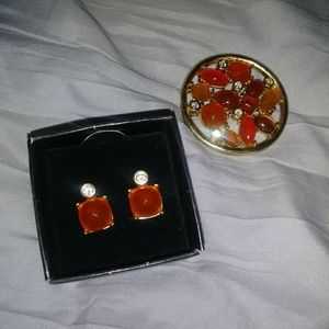 Vintage broach & earings set
